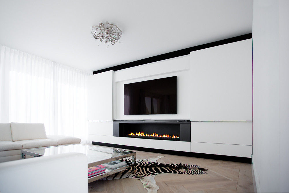 Fabulous Boley gashaard met maatwerk TV-meubel | Hooijer Haarden en Vloeren ZS43