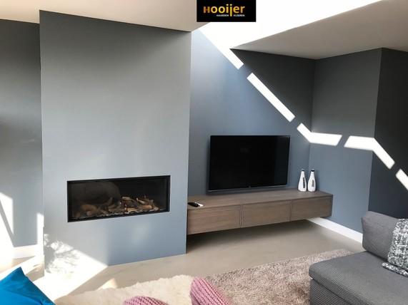 Gashaard met zwevend meubel