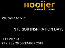 INTERIOR INSPIRATION DAYS / 27-29 DEC 2018