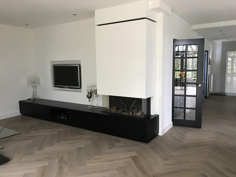 driezijdige gashaard met maatwerk meubel Utrecht