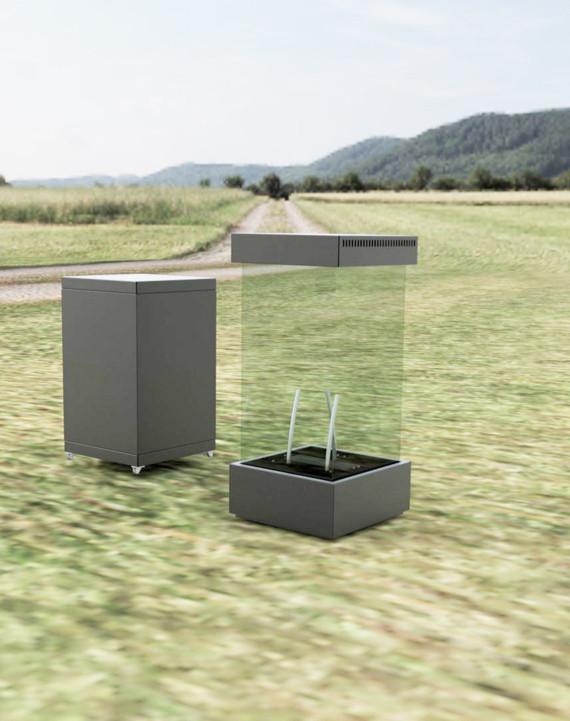 M-design Cube 600 True Vision buitenhaard / tuinhaard