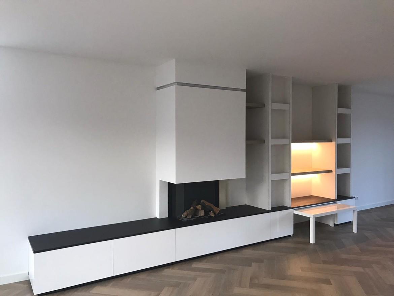 Ingebouwde gashaard met op maat gemaakt meubel