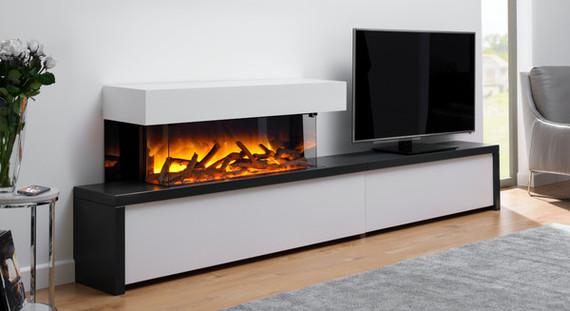 Flamerite Fires STRATO 900 - 1500/1200 CB TV elektrische haard