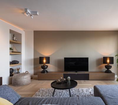 Interieur design inclusief haard en vloer