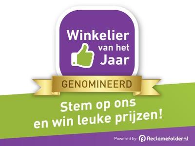Winkelier van het jaar verkiezing: stem op ons en win leuke prijzen!